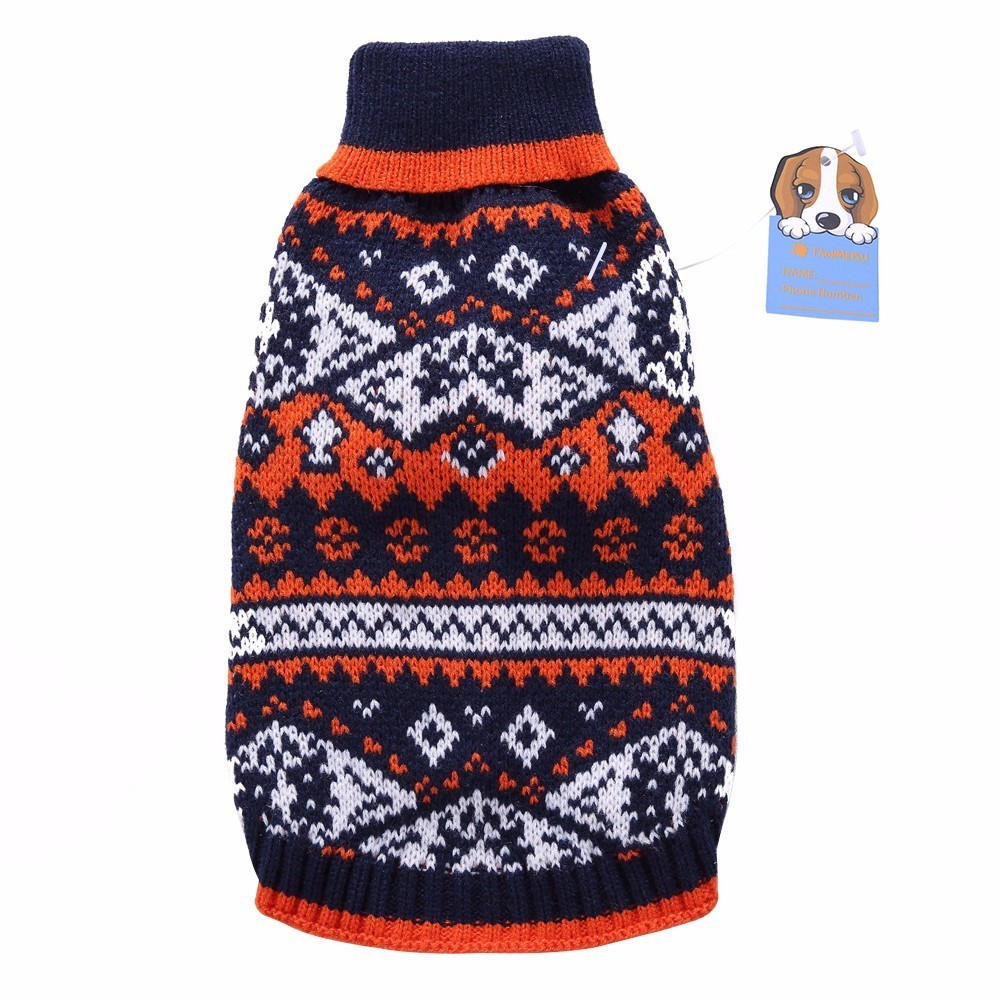 2018 Dog Cat Knit Sweater Kitten Puppy Christmas Style Sweatshirt Knitwear Pet Autumn Winter Coat Clothes three style