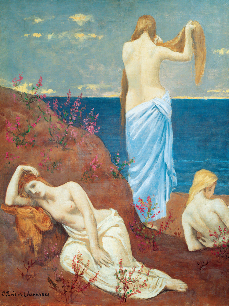 nude figurative canvas prints giant posters symbolism picture Imagich Top 100 prints seaside girls By Pierre Puvis de Chevannes