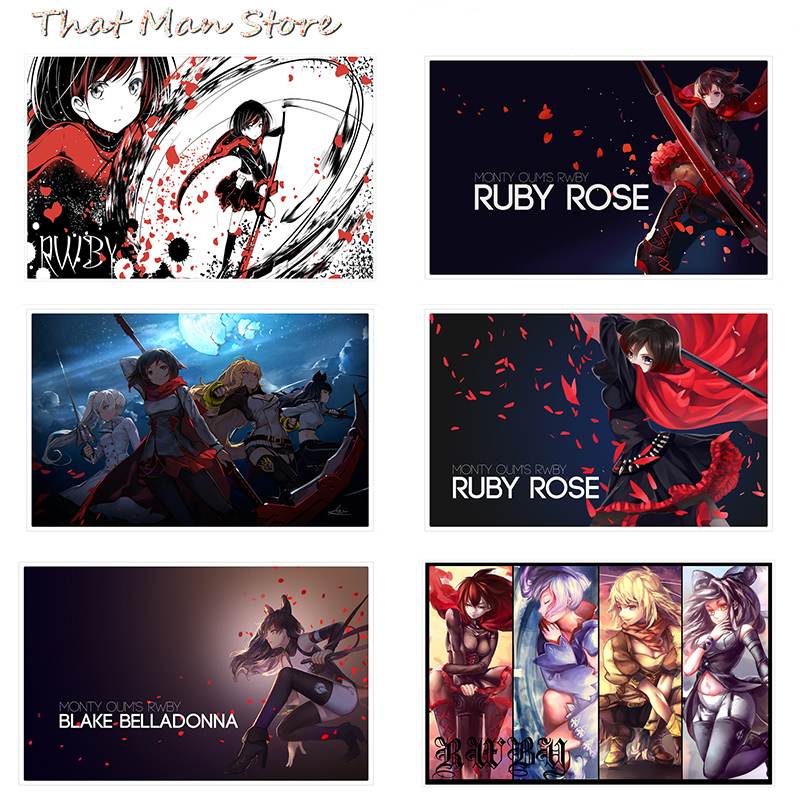 RWBY Poster Clear Image Wall Stickers Home Decoration Good Quality Prints White Kraft Paper 42X30cm